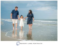 Family in white and navy. Love this beach look!