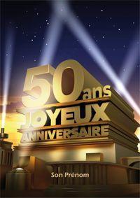 Carte Joyeux Anniversaire 50ans Cinquante Ans Pinterest Happy