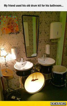 Drummer's Bathroom