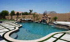 For our pool area...with artificial turf and maybe a splash pad to the side.