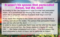 It wasn't his spouse that persuaded Adam, but the devil