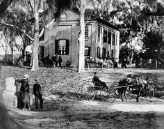 HISTORIC LANDMARK  |  The Oldest Church on St. Helena Island, Brick Baptist Church was built by Slaves in 1855.  An open balcony was used for the Slaves who stood during the services, always out of view of the white plantation owners who sat on the lower level.  At the end of the Civil War and Slavery, Brick Baptist Church was turned over to 8000 former Slaves as their place of worship.