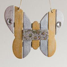 #butterfly #vlinder #silver #antiquegold #krijtverf #decoandlifestyle