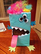 Monster Valetine Box Craft from www.daniellesplace.com