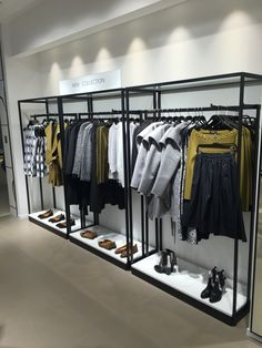 Boutique Interior, Clothing Store Interior, Clothing Store Displays, Boutique Decor, Shop Shelving, Retail Shelving, Commercial Interior Design, Shop Interior Design, Lingerie Store Design