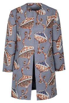 Wonderul Noh Nee coat with African print