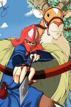 """Ashitaka of """"Princess Mononoke"""""""