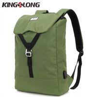 KINGSLONG Unisex Portable USB Charge Backpack Waterproof Travel Bags  Notebook 15.6