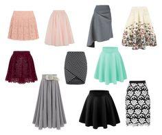 """faldas triangulo invertido"" by mariagonzalez-7 on Polyvore featuring moda, DKNY, Ted Baker, Jolie Moi y BCBGMAXAZRIA"