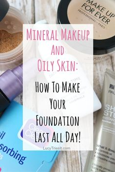 Wondering if mineral makeup and oily skin go well together? Does your mineral makeup slide off by the end of the day? Check out these tips to make it last! Makeup Tips For Oily Skin, Mask For Oily Skin, Dry Skin On Face, Best Makeup Tips, Oily Skin Care, Skin Mask, Makeup Hacks, Skin Care Home Remedies, Beauty Hacks For Teens