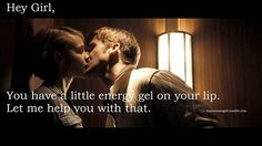 Hey girl, you have a little energy gel on your lip. Let me help you with that.