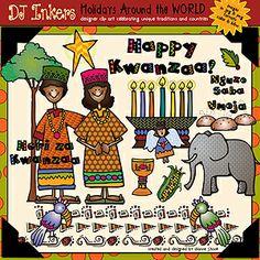 Kwanzaa & African holiday clip art by Dianne J. Hook