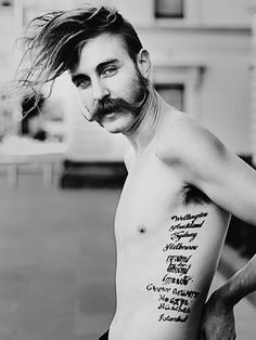 Victorian Gentleman Rocker? (handlebar moustache included)  #moustaches
