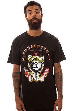 The Misunderstood Camo Teddy Tee in Black by Entree. GET 25%OFF USING  REPCODE 1cf18c1f5