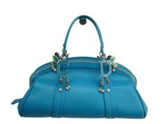 Christian #Dior Hand bag Limited Edition Leather Turquoise blue (BF080635). Authenticity guaranteed, free shipping worldwide & 14 days return policy. Shop more #preloved brand items at #eLADY: http://global.elady.com