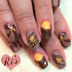 ブラウン, チョコ, バレンタインのネイル(Ri's roomさん) 9908 | NAILPLUS(ネイルプラス)