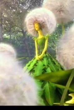 Screen shot of dandelion These dandelion costumes were inspired by the animated movie Epic. They were not a major part of the movie so i...