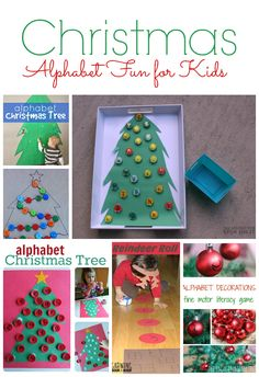Christmas Themed Alphabet Fun for Kids featured at The Educators' Spin On It