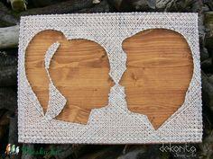 Páros profil - string art kép (dekorita) - Meska.hu