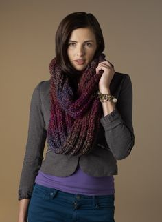 Red Heart® Stellar™ Out of this World Cowl #knit #pattern