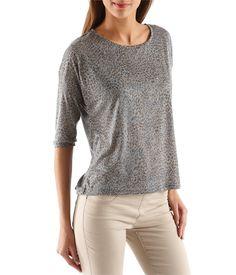 T-shirt femme à l'imprimé léopard Camaieu 20€