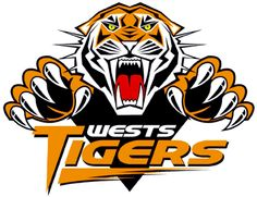 Wests Tigers, National Rugby League, Sydney, New South Wales, Australia National Rugby League, Wests Tigers, Sydney, Tiger Logo, Black And White Logos, Club, Logo Design, Graphic Design, Gourmet