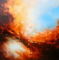 """Large Canvas Abstract Oil Painting by Simon Kenny """" Paradise Lost"""""""