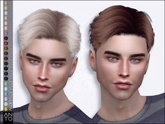 sims 4 cc // custom content men& hairstyle // the sims resource // Anto - Alan (Hairstyle) - - Sims 3, Die Sims, Sims 4 Cas, Sims 4 Men Clothing, Sims 4 Mods Clothes, Sims Mods, Sims 4 Hair Male, Sims Hair, Man Bun Hairstyles