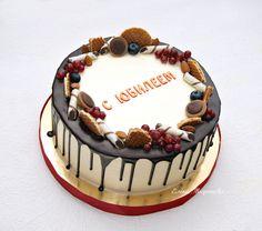 Торт на Юбилей начинка Карамельный с грушей, вес 2.7кг