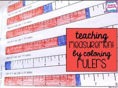 Why kids struggle with measuring inches (and how coloring rulers can help): great ideas for teaching measurement with a ruler!