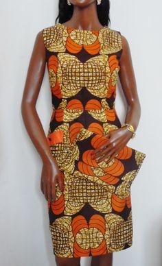 African Print Ankara Ladies Shift Dress & Matching Clutch Set. £59.99, via Etsy.
