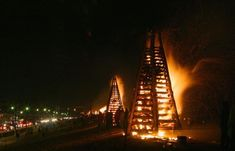 Christmas Bonfires in St. James Parish are just a part of the unique Louisiana Christmas traditions that take place each year! Learn more!  #onlylouisiana