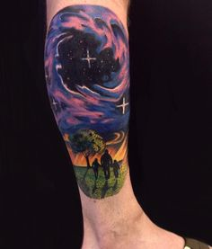 65 Fascinating Space Tattoo Ideas- The Mysterious Nature of the Cosmos in Body Art Check more at http://tattoo-journal.com/best-space-tattoos/