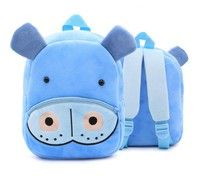 a51f04a3b6 Cartoon Hippo Plush Kid Backpack Baby Mini Schoolbag  823 Kindergarten Backpack  for Age 2-4 Children Bag for Boy Girl