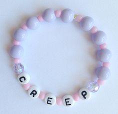 Alphabet Bracelets with Pastel Beads: Misfit by tiffanymamone