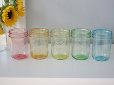 How to Tint Mason Jars DIY