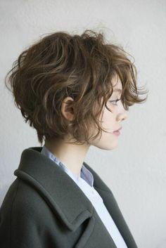 coupe de cheveux femme court cheveux frisés femme More
