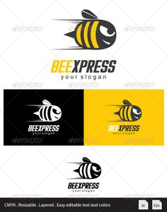 Beexpress Logo — Vector EPS #illustration #mascot • Available here → https://graphicriver.net/item/beexpress-logo/3484030?ref=pxcr
