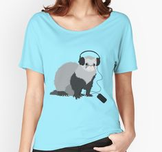 Funny Musical Ferret Relaxed Fit Women's T-Shirt, Redbubble