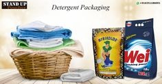 #Detergentpackaging is a prudent decision made by many businesses, The most popular bag form for detergent packaging would be #standuppouches as they can stand unattended on shelves.