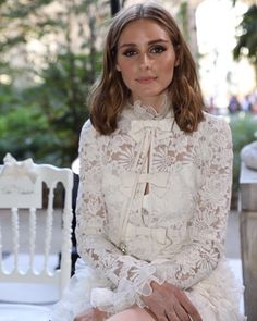 "2,352 Likes, 10 Comments - FASHION TO MAX official (@fashiontomax) on Instagram: ""#OliviaPalermo sits front row at #GiambattistaValli's fall/winter 2017 #couture show. Photo by…"""