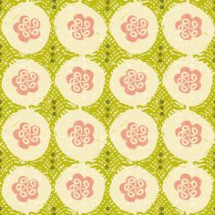 dumplings fabric by ottomanbrim on Spoonflower - custom fabric Fabric Paper, Green Flowers, Pattern Paper, Fabric Flowers, Custom Fabric, Spoonflower, Craft Projects, Dumplings, Quilts