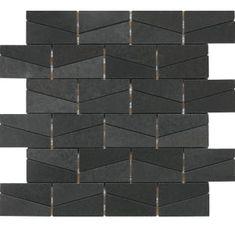 Buy the Daltile Urban Bluestone Direct. Shop for the Daltile Urban Bluestone Stone a' la Mod - x Wedged Mosaic Wall & Floor Tile - Polished Tile Visual and save. Stone Mosaic Tile, Mosaic Wall, Mosaic Tiles, Metallic Wall Tiles, Black Tiles, Diy Home Interior, Interior Ideas, Best Floor Tiles, Thing 1