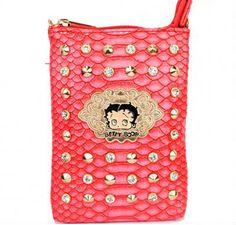 Betty Boop® Rhinestone & Stud Messenger Bag
