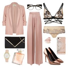 """""""Untitled #196"""" by nikh-papa on Polyvore featuring For Love & Lemons, Cushnie Et Ochs, River Island, Alexander Wang, ZeroUV, Wacoal and Nine West"""