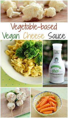 Creamy Vegetable-based Vegan Cheese Sauce made with @califiafarms Unsweetened Almond Milk. Plus there's a slow cooker variation!