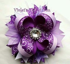 Purple stacked bow