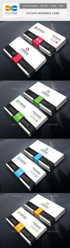 Modern Business Card Template PSD #design Download: http://graphicriver.net/item/modern-business-card/14333827?ref=ksioks