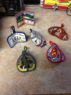 Not sure what to do with all those old patches you accumulate over the years...make Christmas ornaments!