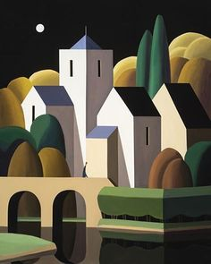 Andy Wooldridge- Canadian Painter - Works - Finance tips, saving money, budgeting planner Canadian Painters, Canadian Artists, Landscape Art, Landscape Paintings, Easy Paintings, Art Deco Posters, Naive Art, Whimsical Art, Watercolor Art